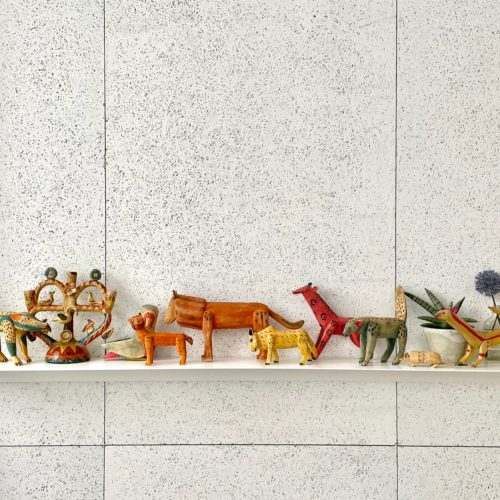 オアハカ動物木彫り